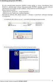 Instrukcja obs ugi i instalacji program w HYDRA GEDIT PDF