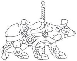 Small Picture 121 best Carousel Animal Coloring Pages images on Pinterest