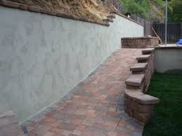 retaining wall cap blocks cinder block stucco finish with country manor caps home depot bloc