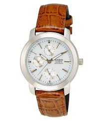8 off on casio a166 brown leather strap watch on snapdeal paisawapas com