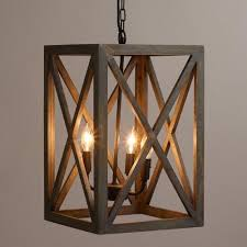 metallic pendant lighting design discoveries. gray wood and iron valencia chandelier metallic pendant lighting design discoveries p