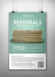 Center Partners Employee Referral Program Poster
