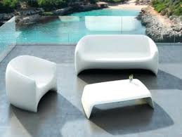 cool garden furniture. White Garden Benches Cool Furniture For The Terrace Or Patio Trendsetting -