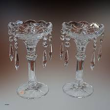 Vintage Candle Holders With Crystals New Shannon Crystal Candle Holders Two  8in 5 Prisms Pair Glass
