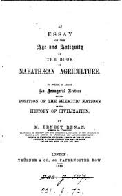 index an essay on the age and antiquity of the book of nabathaean  an essay on the age and antiquity of the book of nabathaean agriculture djvu