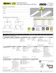 Axis Lighting Bmrled Recessed Mount With Flush And Steplens Manualzz Com