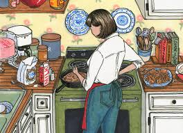 memories of mom little rock family memories of mom family chatter mother in kitchen illustration