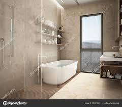 Moderne Kalkstein Bad Badewanne Und Dusche Regale Mit Flaschen
