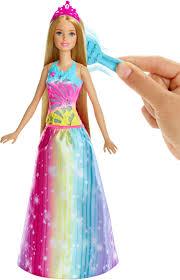barbie barbie dreamtopia brush n sparkle princess doll blue pink yellow frb12 best