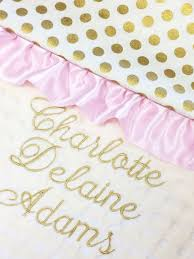 Baby Boos Designs Gold Baby Blanket Gold Personalized Blanket Pink Gold Baby