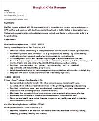 9 Cna Resume Samples Sample Templates