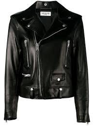 saint lau classic leather biker jacket