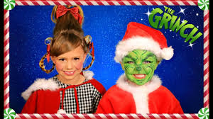 the grinch and cindy lou who christmas makeup hair and costumes