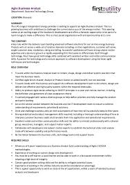 Agile Business Analyst Resumes Pin By Talia Lieberman On Business Technology Sample Resume