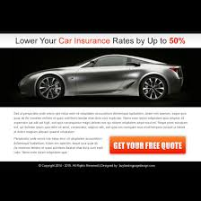 Car Insurance Free Quote Awesome Auto Insurance PPV Landing Page Design Templates For Your Marketing