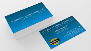 Logo Design Bradenton Business Business Card Design For Hueston Company Cpa Llc
