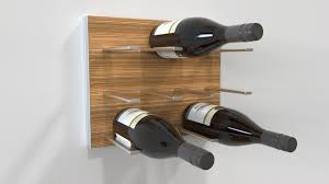STACT Modular Wall-mounted Wine Rack (Exotic Zebrano) - by Eric Pfeiffer  modern