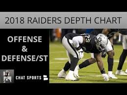 Raiders Depth Chart Oakland Raiders Latest Depth Chart Entering Preseason Week
