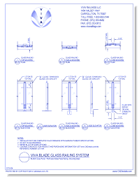 viva railings llc openings passages and protection s cad drawings caddetails com