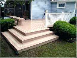 cost to build a wood deck floating amazing patio