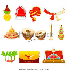 vector illustration of indian wedding object hindu wedding Indian Wedding Card Free Vector vector illustration of indian wedding object indian wedding card design vector free download