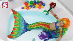 Small Picture Mermaid Videos Of Kids For First Swim In My Tail Youtube Draw