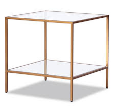 oliver antique gold side table now