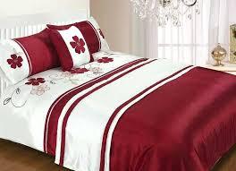 red duvet cover king black and bedding sets