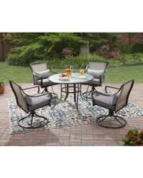 5 piece outdoor dining set. Mainstays Aqua Glass 5-piece Outdoor Dining Set, Box 1 Of 2, Chairs. \ 5 Piece Set U