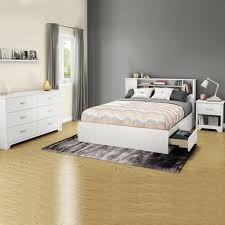 3 Piece Bedroom Set - Litchi Twin Mates Bed, Double Dresser and ...