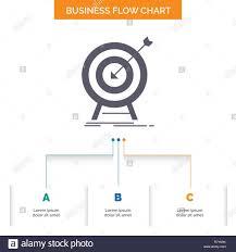Goal Hit Market Success Target Business Flow Chart