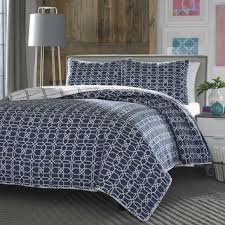 navy and white quilt. Perfect White Full  Queen Navy White Geometric Reversible Quilt Coverlet Beds With And U