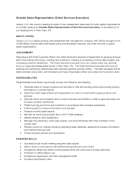 Outside Sales Representative Resume Examples Outside Sales Resume