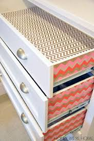 drawer liner paper uk bottom with gift wrap from target chevron paper on the side of the dra