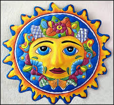 >sun wall art hand painted metal sun wall hanging haitian metal   handcut from recycled steel drums in haiti in haiti hand painted metal wall decor hang indoors or outdoors hand painted decorative sun wall decor
