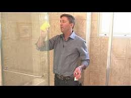 remove lime scale from shower doors