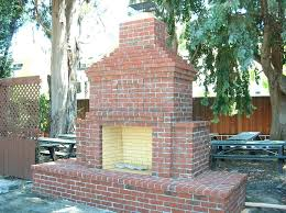 idea brick outdoor fireplace for outdoor brick fireplace an outdoor brick fireplace at the winter lodge in alto is 73 outside brick fireplace designs