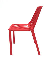 red plastic stacking chair hire