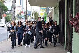 ei makeup artistry student tour group in la