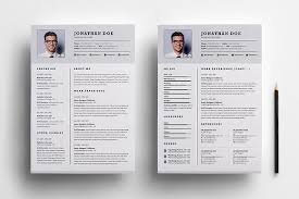 Two Page Resume Fascinating Professional Two Page Resume Set Resume Templates Creative Market