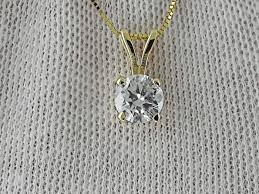 no reserve necklace necklace with pendant pendant gold 0 7 ct