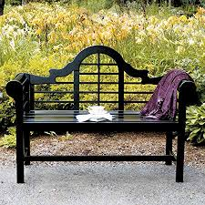 Garden <b>Bench</b> Folding Bronze Ornate <b>Metal</b> Design <b>Vintage Style</b> ...