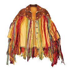 elvis presley worn hilton hotel rainbow fringe leather jacket