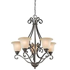 kichler camerena 5 light chandelier