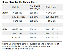 Nordic Ski Size Chart 13 Unfolded Cross Country Skate Ski Sizing