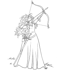Small Picture Merida Directing Bow Arrow Coloring Pages printable coloring