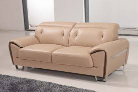 lovely beige contemporary half leather sofa set los angeles california esf669