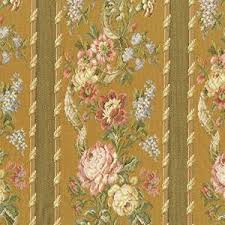 Copper Beige/Multi <b>Floral Stripe</b> Jacquard Decorating <b>Fabric</b> ...