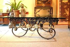 wrought iron coffee table wrought iron and glass coffee table rod iron coffee table for interior