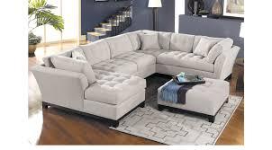 Cindy Crawford Home 239999 Metropolis Platinum 4 Pc Sectional Living Room